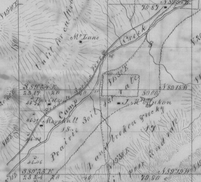 1855 survey of the Camp Creek area.