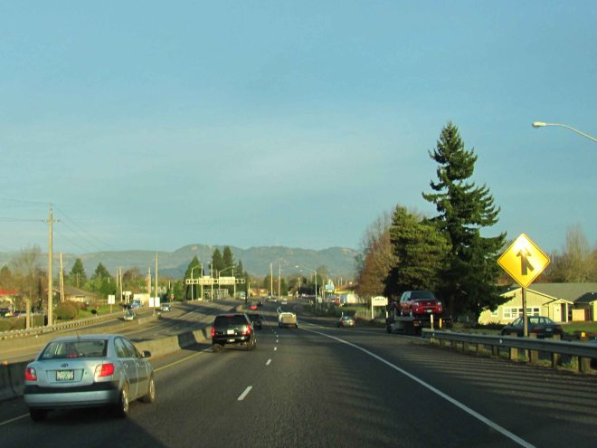 Beltline traffic in Eugene.