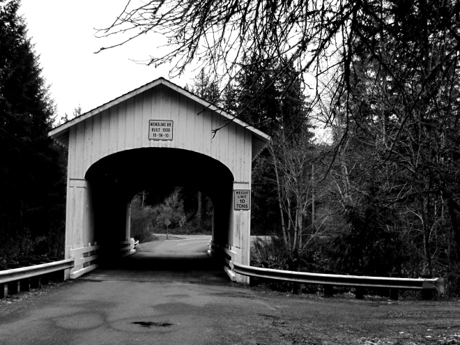 One of the covered bridges in the area.