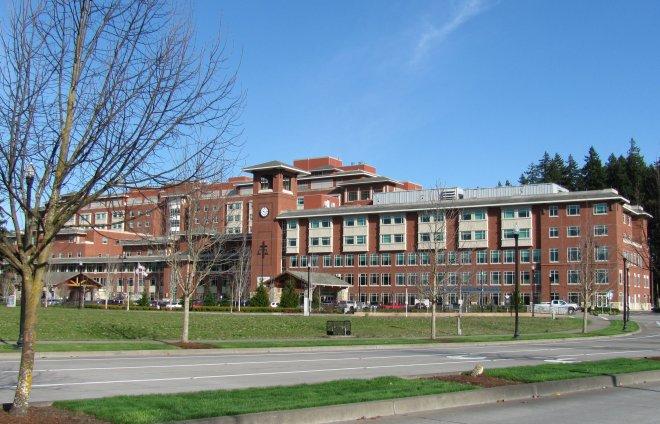 Eugene will soon get a nice VA hospital.  Springfield has River Bend Hospital.